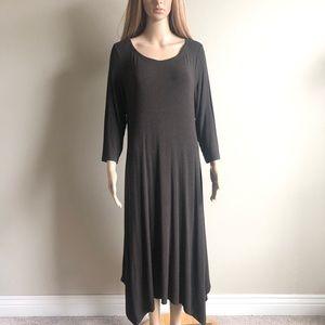 Eileen Fisher Ballet Jersey Midi Dress M EUC